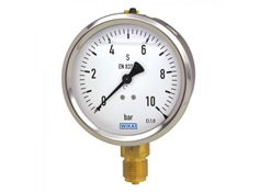WIKA 113.53.100 MANOMETER PRESSUREGAUGE DRUCKANZEIGE MANOMETRE